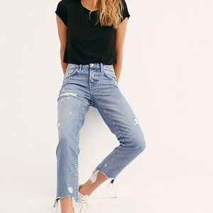 Free People Good Time Relaxed Skinny Jeans 26